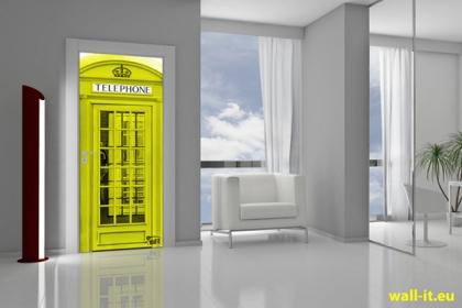 angielska budka telefoniczna naklejka na drzwi londyn