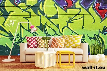fototapeta na sciane do pokoju mlodziezowego graffiti