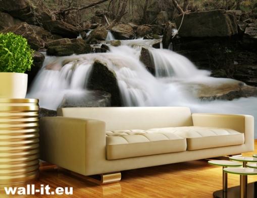 fototapeta-wodospad-w-gorach