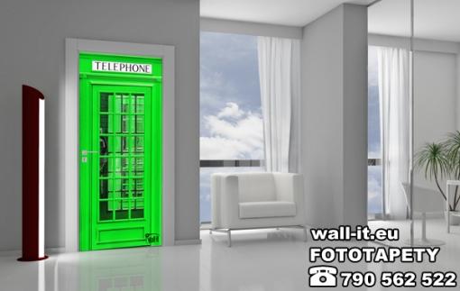 Naklejka angielska budka - zielona